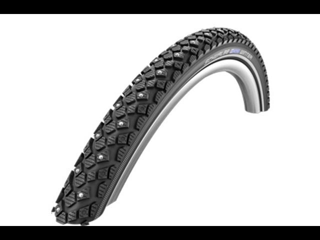 """SCHWALBE Winter Wired-on Tire 26"""" KevlarGurad Reflex, black"""